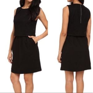 Trina Turk Sleeveless Black Shift Dress